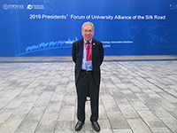 Prof. Chan Wai-yee, Pro-Vice-Chancellor of CUHK attends the Presidents' Forum of University Alliance of The Silk Road.
