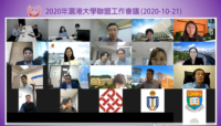 Group photo of all guests at the online Working Group Meeting of Shanghai-Hong Kong University Alliance