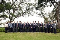 Prof. Lawrence J. Lau (9th from left) and the delegation from the Chinese Academy of Sciences