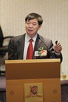 """Prof. Li Jiayang, Vice-President of the Chinese Academy of Sciences, talks about """"Towards Molecular Design of Rice Plant Architecture"""" in the """"Lecture Series by Academicians"""""""