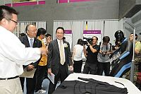 Officiating guests attend the exhibition showcasing the Key Laboratory's technological inventions