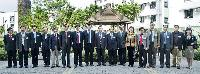中大副校長楊綱凱教授(左七)及候任校長沈祖堯教授(左八)與中國工程院代表團見面