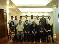 A delegation of Fu Jen Catholic University meets with Prof. Fung Tung (3rd from left, front row), Associate-Pro-Vice-Chancellor; and Chung Chi College representatives including Prof. Leung Yuen Sang (2nd from right, front row), College Head, The Rev. Dr. Andrew Ng (2nd from left, front row), College Chaplain; and Mrs. Angeline Kwok (1st from left, front row), College Secretary