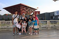 """Students participating in the """"Shanghai Expo Study Programme"""" visit China Pavilion in Shanghai Expo."""