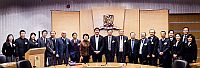 Prof. Joseph Sung (ninth from left), Vice-Chancellor of CUHK warmly welcomes the delegation from the Chinese Academy of Engineering