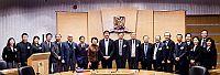 中大校長沈祖堯教授(左九)熱烈歡迎中國工程院代表團到訪
