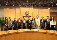 「中國作家中大行」啟動儀式嘉賓與中大代表大合照