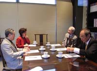 The delegation met with Prof. Jenny So (2nd from left), Director of Institute of Chinese Studies