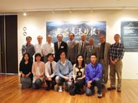 """Accompanied by Prof. Tang Chung (5th from left, back row), Director of Centre for Chinese Archaeology and Art, the delegation visit """"Forget Me Not: the historical roots"""" of Hong Kong in Art Museum"""