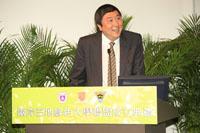 香港中文大學校長沈祖堯教授致歡迎辭及宣讀綠色大學聯盟宣言