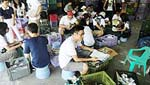 Students join efforts in garbage (waste paper) sorting and recycling in Neihu Environmental Protection Park.