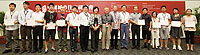 Group photo of the outstanding paper awardees and guests in the 9th China Urban Housing Conference.