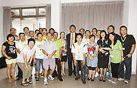 A photo of Prof. Joseph Sung, Vice-Chancellor and volunteers of Breakthrough organization