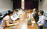 代表團與訪問中大生命科學學院,與學院代表會晤