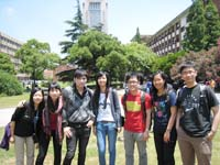 中大學生參加復旦大學舉行的交流團