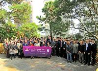 Group photo of invited guests with our School members taken outside the Guest House.
