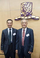 副校長徐揚生教授(左)和姜文漢教授(右)