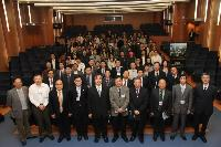 Group photo of speakers and participants at the symposium