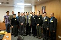 Group photo of Prof. Fu Xiaobing (3rd from left, front row) and our School representatives