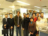 代表團參觀消化疾病研究所
