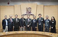 中研院院士代表團與中大代表合照