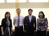 中大熱烈歡迎雲南省教育廳廳長羅崇敏先生(右二)來訪
