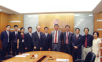 CUHK representatives welcome the delegation from Ningbo University