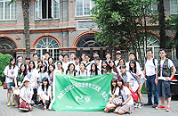 The participants visit the University of Nanjing