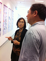 Director Fu Xiao Feng (right) and Prof. Chan Hsiao Chang (left) of School of Biomedical Sciences