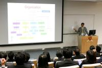 Prof. C.H. Cho, Associate Director (Research) introduces the School of Biomedical Sciences to the KKU delegates
