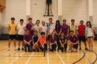 A group photo of winners, organizers and participating teachers taken at the School's first Badminton Tournament