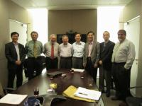 Scientific Advisory Committee members including Dr. Rocky S. Tuan (2nd from left), Dr. Owen M. Rennert (3rd from left); Dr. Law Ping-Yee (2nd from right); Dr. Vassilios Papadopoulos (1st from right) with our School Director and Associate Directors.