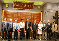 Prof. Joseph Sung (5th from left), Vice-Chancellor of CUHK meets with representatives in Ningbo city