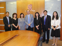 CUHK representatives welcome the delegation from Peking University