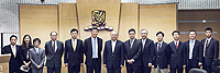 CUHK representatives welcome the delegation led by Prof. Lu Yongxiang, Vice-Chairman, Standing Committee of the National People's Congress of the People's Republic of China