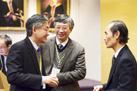 Prof. Fung Tung (middle), Associate-Pro-Vice-Chancellor and Professor of the Department of Geography and Resource Management attends the conference
