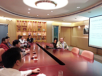 Delegation from National University of Defense Technology: The delegation visits the Department of Physics and meets with Prof. Xia Keqing, Chairman of the Department