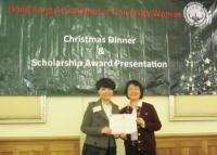 Award receiving by Miss Li Qian (Left)