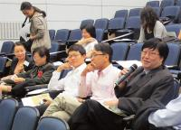 Prof. David Wan (1st from right) speaks at the seminar