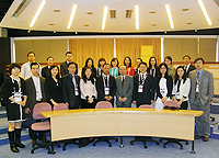 A delegation of China Education Association for International Exchange led by Prof. Li Fei (6th from left, front row), Vice President of Wuhan University visits CUHK