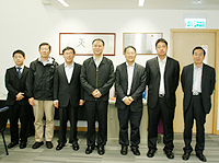 The delegation from China Academy of Space Technology visits of the Institute of Space and Earth Information Science