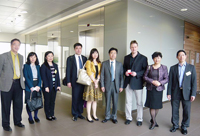 The delegation from ACC visits the School of Biomedical Engineering