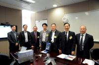 (From left) Prof. Woody W.Y. Chan, Prof. Cho Chi-Hin, Prof. Chan Wai-Yee, Prof. He Lin, Prof. Shen Yan, Prof. Fung Kwok-Pui and Prof. Kenneth K.H. Lee