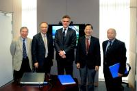 (From left) Prof. Chan Wai-Yee, Prof. Jack C.Y. Cheng, Prof. Castelein, Prof. Fung Kwok-Pui and Prof. Kenneth K.H. Lee