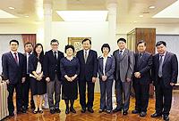 Visit of President ofShanghai University of Finance and Economics