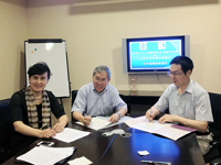 From left: Prof. Chen Zi-jiang of Shandong University; Prof.  Chan Wai-yee of CUHK; and Prof. Ma Jin-loong of Shandong University