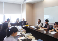 The delegation from Beijing Normal University visits the Chinese University of Hong Kong
