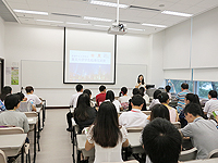 Summer Visit Programme of Fudan University Students: Ms. Wing Wong, Director of Academic Links (China) welcomes the students