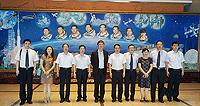 中大校長沈祖堯教授(左五)率領代表團中國航天員科研訓練中心,加強雙方科研合作及交流聯繫