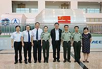 中大校長沈祖堯教授(右四)與中國航天員科研訓練中心代表會晤